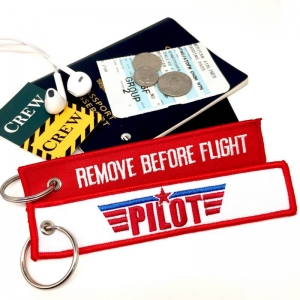 PILOT crew Remove Before Flight Top Gun style luggage bag tag keychain
