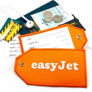 EasyJet airline Real Luggage Style tag with back slot for ID Flight Attendant Cabin Crew Cockpit Pilot Crew Authentic Equipment