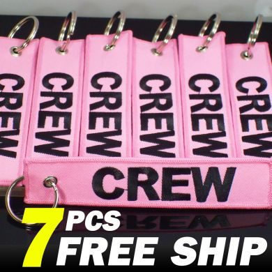 Pink CREW tags 7pcs set