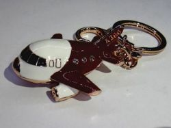 A380 Airbus keychain - Ceramic type material high gloss