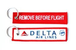 2pcs Delta Airlines Keychain Baggage Tag Luggage Flag Address ID tag for CREW PILOT FLIGHT ATTENDANT UNIFORM