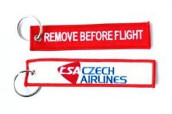 2pcs CSA Czech Airlines Keychain Baggage Tag Luggage Flag Address ID tag for CREW PILOT FLIGHT ATTENDANT UNIFORM