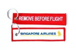 2pcs SIA Singapore Airlines Keychain Baggage Tag Luggage Flag Address ID tag for CREW PILOT FLIGHT ATTENDANT UNIFORM