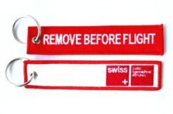 2pcs SWISS Airlines Keychain Baggage Tag Luggage Flag Address ID tag for CREW PILOT FLIGHT ATTENDANT UNIFORM