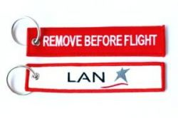 2pcs LAN Airlines Keychain Baggage Tag Luggage Flag Address ID tag for CREW PILOT FLIGHT ATTENDANT UNIFORM