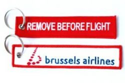 2pcs Brussels Airlines Keychain Baggage Tag Luggage Flag Address ID tag for CREW PILOT FLIGHT ATTENDANT UNIFORM
