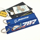Boeing Dreamliner Special Edition luggage tag keychain