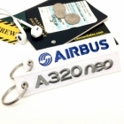 Airbus A320 Neo Embossed keychain tag