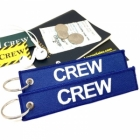 CREW Blue (Flight Crew, Cockpit Crew, Maintainance Crew) tag keychain