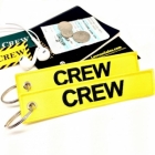 CREW Yellow (Flight Crew, Cockpit Crew, Maintainance Crew) tag keychain
