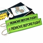 Remove Before Flight Neon color tag keychain