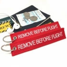Remove Before Flight Original Authentic color tag keychain