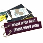 Remove Before Flight Purple color tag keychain