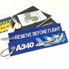 Airbus 340 wave Remove Before Flight tag