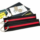 The thin red line (fire) fire department keychain bag tag