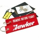 Hawker aircraft Remove Before Flight luggage tag keychain
