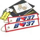 B737 I love Boeing luggage tag keychain