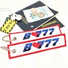 B777 I love Boeing luggage tag keychain