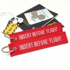 Insert Before Flight humor Remove Before Flight style luggage tag keychain