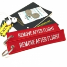 Remove After Flight humor Remove Before Flight style luggage tag keychain