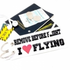 I Love (Heart) Flying Remove Before Flight luggage bag tag keychain