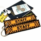 Staff Tag Keychain Luggage tag bag tag