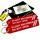 Flight Recorder Do not open Funny luggage bag tag keychain