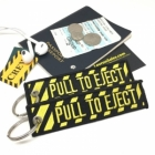 Pull to Eject Seat Novelty Pilot Cabin Crew luggage bag tag keychain