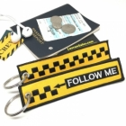 Airport Follow Me car Novelty Pilot Cabin Crew luggage bag tag keychain