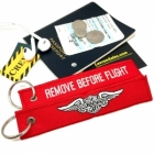 Harley Davidson Motorcycle Remove Before Flight ignition key keychain luggage bag tag