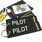 Pilot I Stripe Crew Cockpit AOPA luggage bag tag keychain