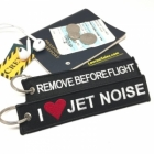 I LOVE (Heart) Jet Noise Remove Before Flight aviator pilot luggage bag tag keychain