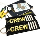 CREW IIII Stripe Crew Cockpit AOPA luggage bag tag keychain