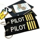 Pilot Captain IIII Stripe Crew Cockpit AOPA luggage bag tag keychain