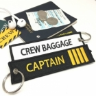 Captain Pilot IIII Stripe CREW BAGGAGE luggage bag tag keychain