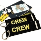 CREW I Stripe Crew Cockpit AOPA luggage bag tag keychain
