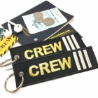 CREW III Stripe Crew Cockpit AOPA luggage bag tag keychain