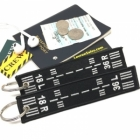 Dual Runway 18L 18R 36L 36R authentic cabin cockpit crew flight attendant luggage bag tag keychain