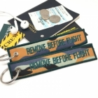 Camouflage Amber Green Army Remove Before Flight luggage bag tag keychain