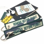Camouflage Grey Green Army Remove Before Flight luggage bag tag keychain