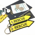 RESCUE arrow Fighter Jet pilot crew luggage bag tag keychain
