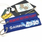 Airbus A340 wave logo Remove Before Flight style luggage bag tag keychain