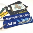 Airbus A310 wave logo Remove Before Flight style luggage bag tag keychain