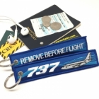 Boeing 737 wave Remove Before Flight tag
