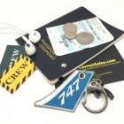 747 Vertical Stablizer wing cockpit cabin crew flight attendant luggage bag tag keychain