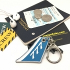777 Vertical Stablizer wing cockpit cabin crew flight attendant luggage bag tag keychain