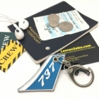 737 Vertical Stablizer wing cockpit cabin crew flight attendant luggage bag tag keychain
