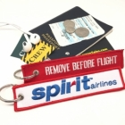 Spirit airlines Fight attendant Cabin cockpit crew luggage bag tag keychain