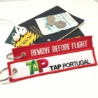 TAP Portugal airline Fight attendant Cabin cockpit crew luggage bag tag keychain