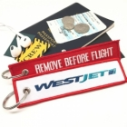 Westjet airline Fight attendant Cabin cockpit crew luggage bag tag keychain